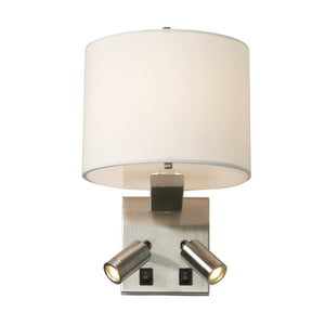 Belmont Three Light Wall Light Brushed Nickel