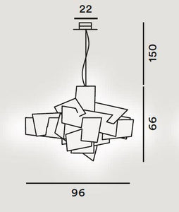 Foscarini Big Bang LED Suspension Pendant - London Lighting - 3