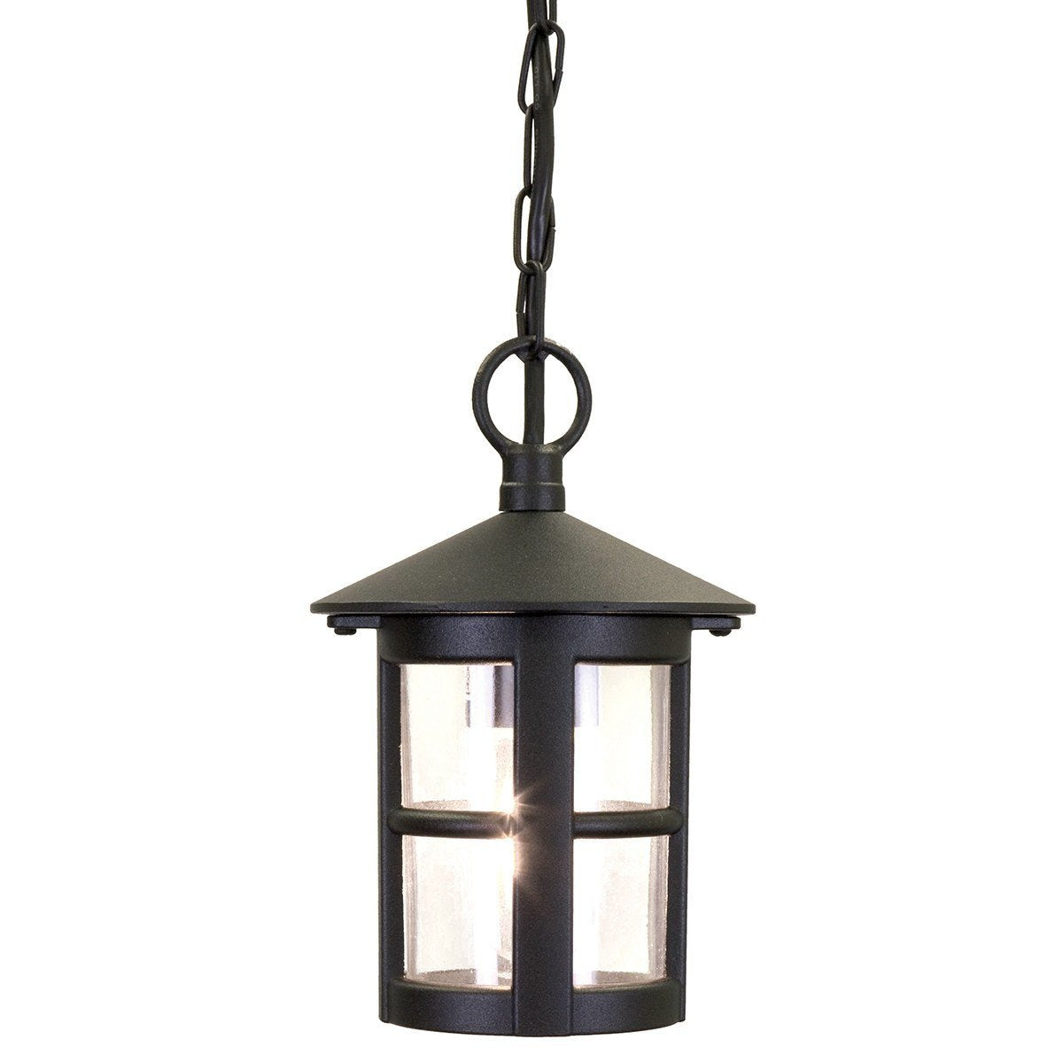 Hereford Ridgid Tube Lantern 235mm Black - London Lighting - 1