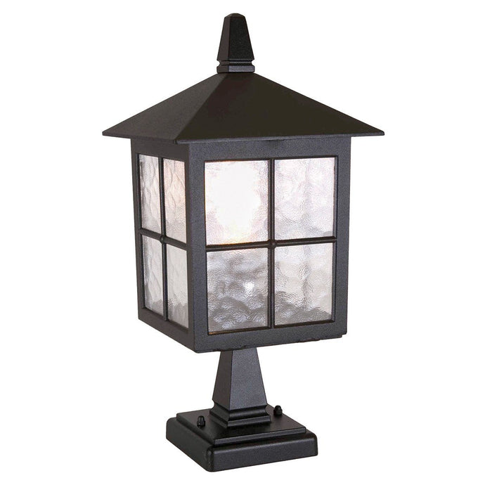 Winchester Pedestal Lantern Black - London Lighting - 1