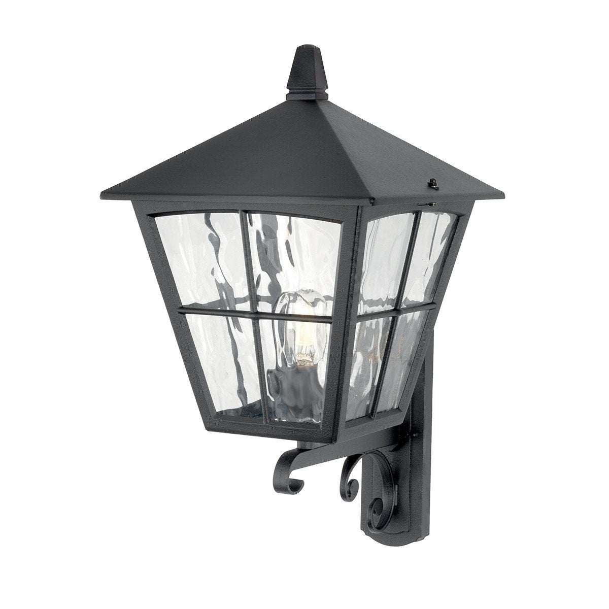 Edinburgh Wall Up Lantern Black - London Lighting - 1