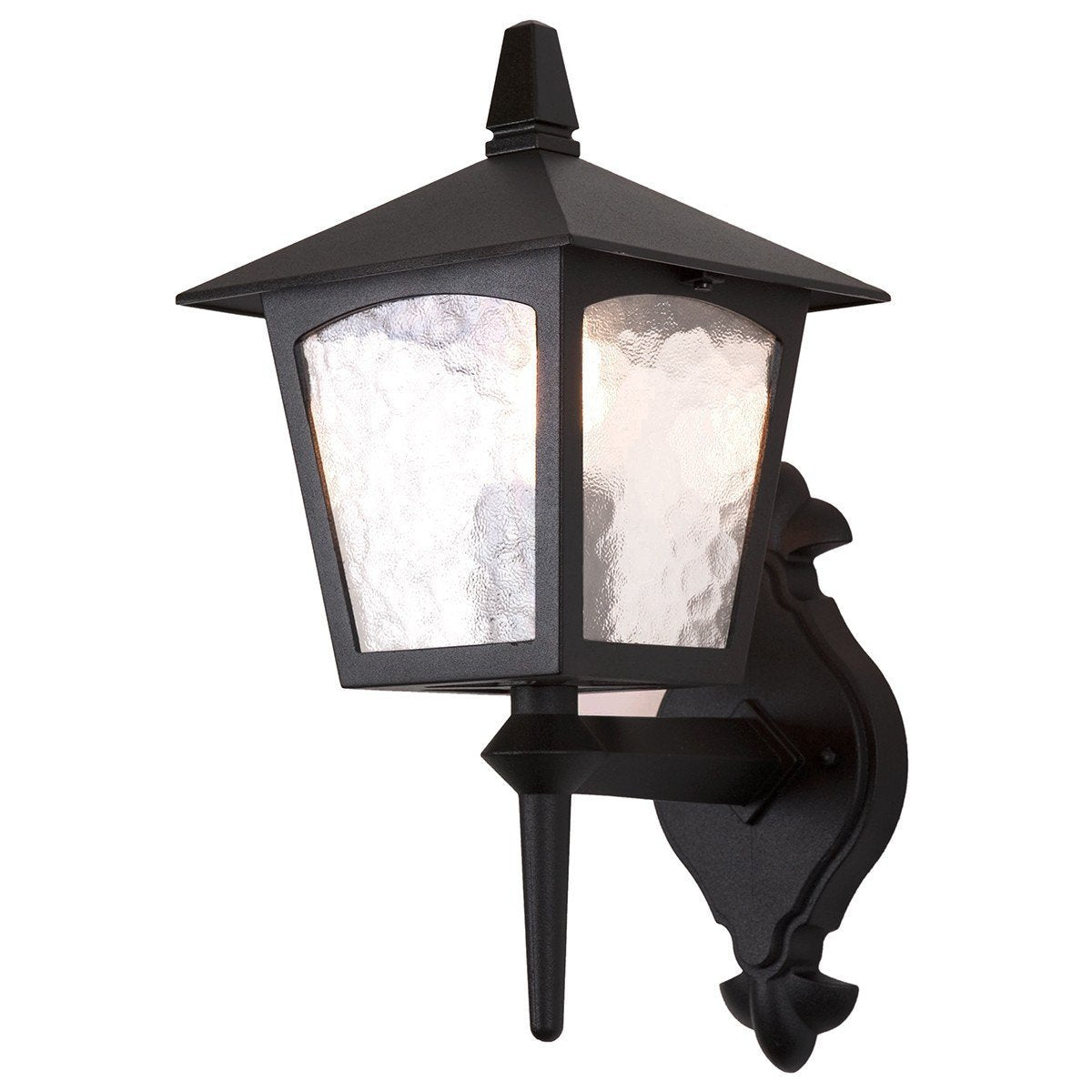York Wall Up Lantern Black - London Lighting - 1