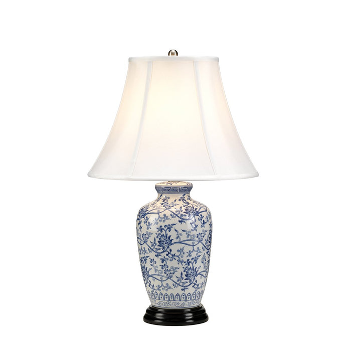 Barnehurst Blue Jar Table Lamp c/w Shade - ID 8349
