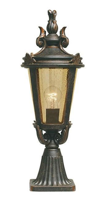 Baltimore Pedestal Lantern Medium - London Lighting - 1