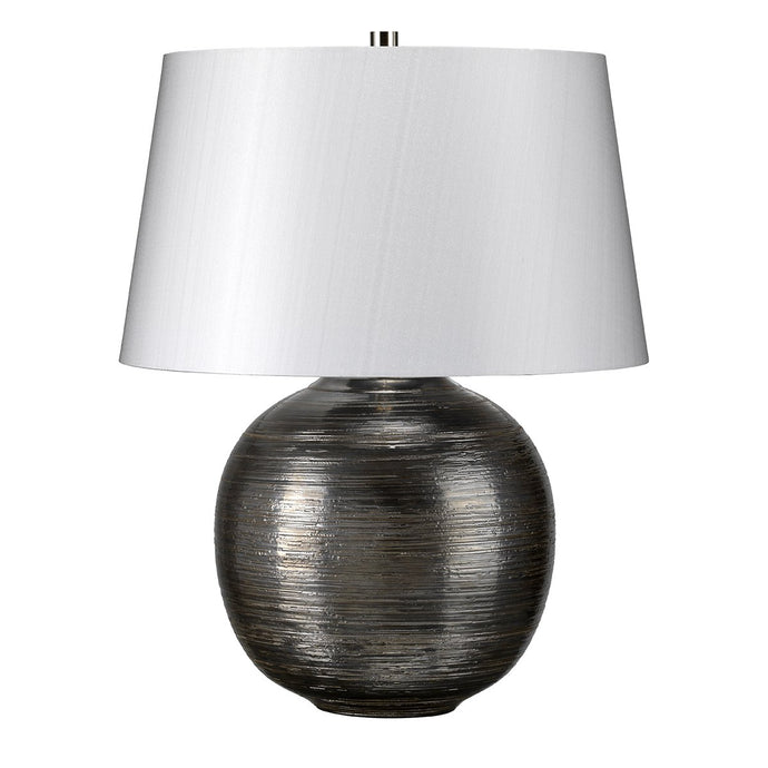 Chinbrook Silver Coloured Table Lamp c/w shade - ID 8325