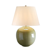 Chadwell Large Green Table Lamp c/w Shade - ID 8330