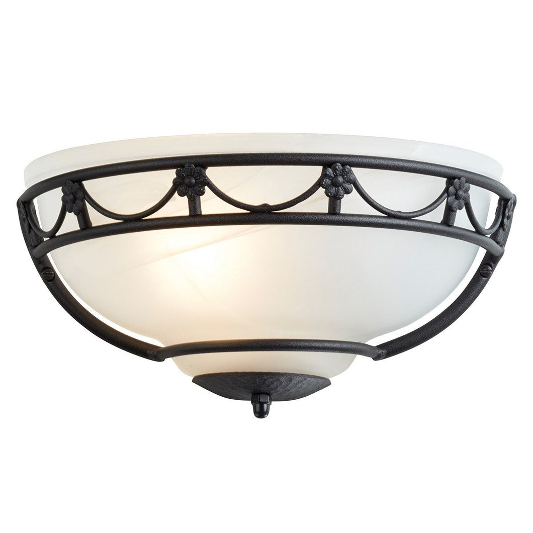 Carisbrooke Wall Uplighter Black - London Lighting - 1