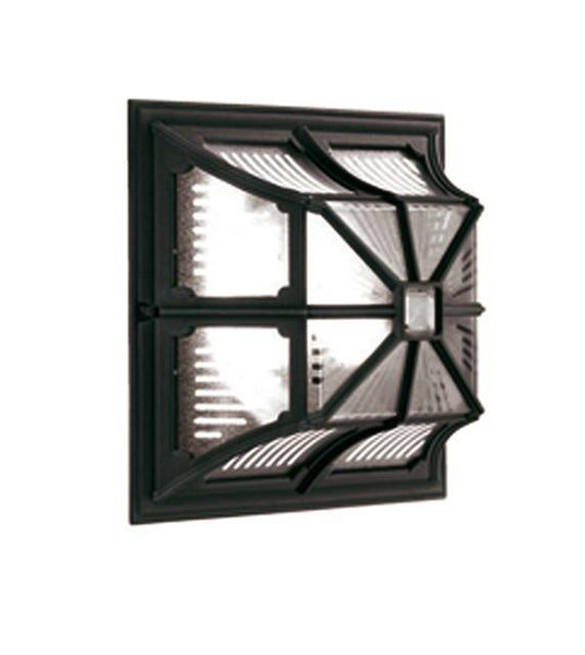 Chapel Flush Ceiling or Wall Lantern Black - London Lighting - 1