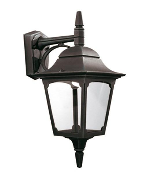 Chapel Down Wall Lantern Black - London Lighting - 1