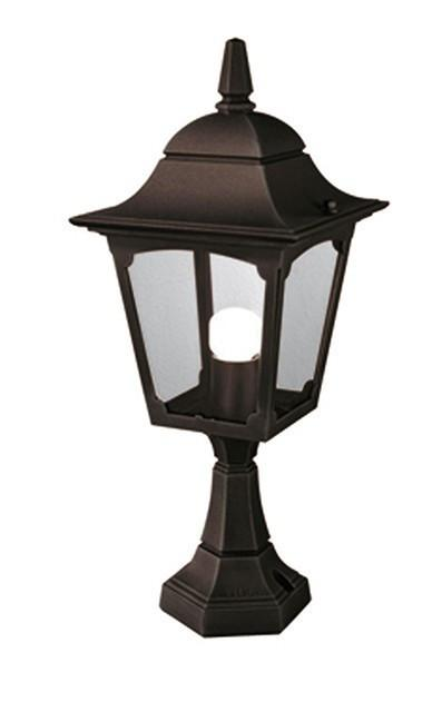 Chapel Pedestal Lantern Black/Gold - London Lighting - 1