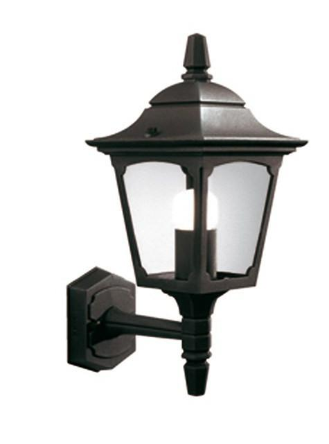 Chapel Mini Up Wall Lantern Black - London Lighting - 1