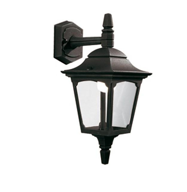 Chapel Mini Down Wall Lantern Black - London Lighting - 1