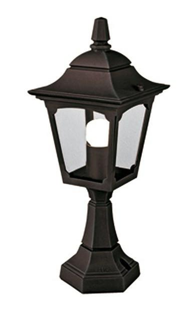 Chapel Mini Pedestal Lantern Black - London Lighting - 1