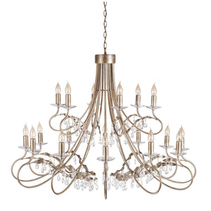 Christina 18 Arm Chandelier Silver/Gold - London Lighting - 1