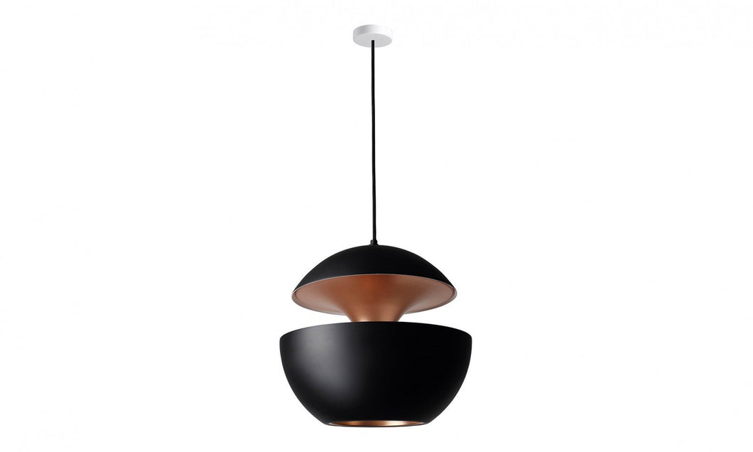 55cm Diameter Aluminium Globe Pendant In Black & Copper - ID 6495