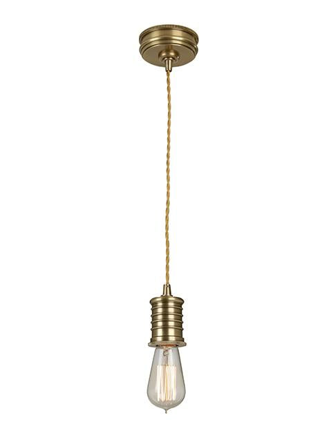 Single Aged Brass Pendant Light