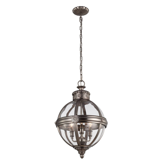 Feiss Adams 3 Light Pendant Chandelier - London Lighting - 2