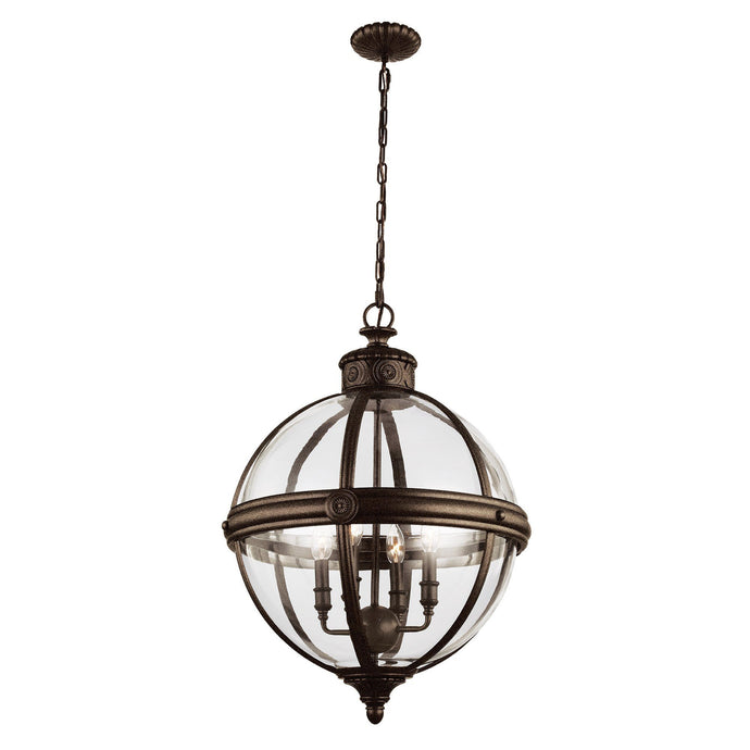 Feiss Adams 4 Light Pendant Chandelier - London Lighting - 1
