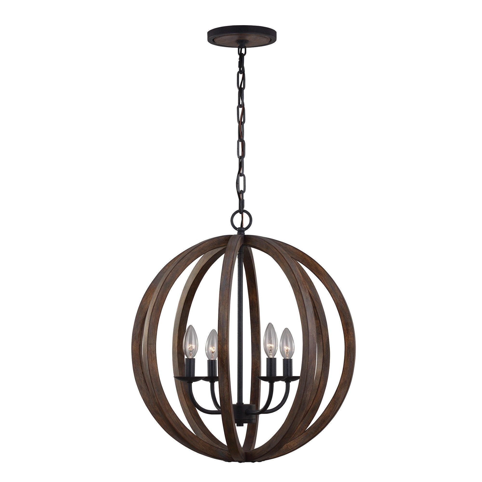 Feiss Allier 4 Light Pendant Light - London Lighting - 1