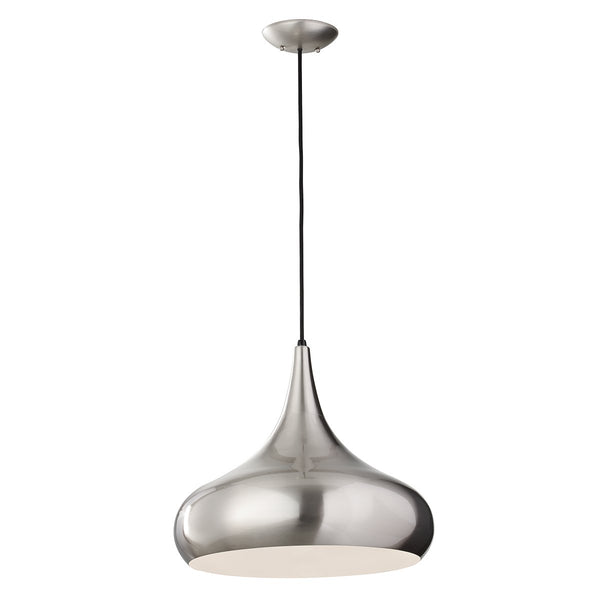 Beso One Light Brushed Steel Large Pendant Light