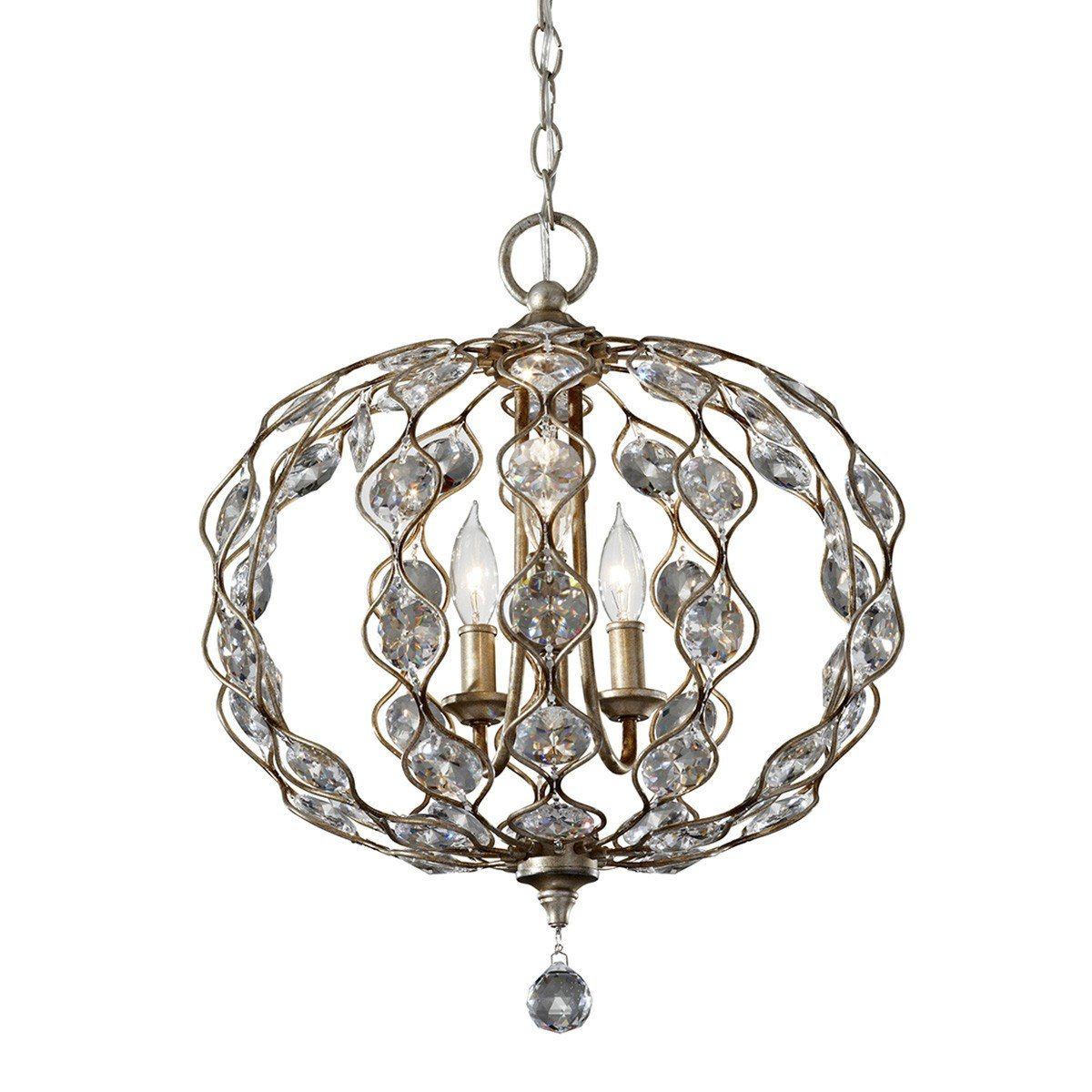 Feiss Leila 3 Light Chandelier - London Lighting - 1