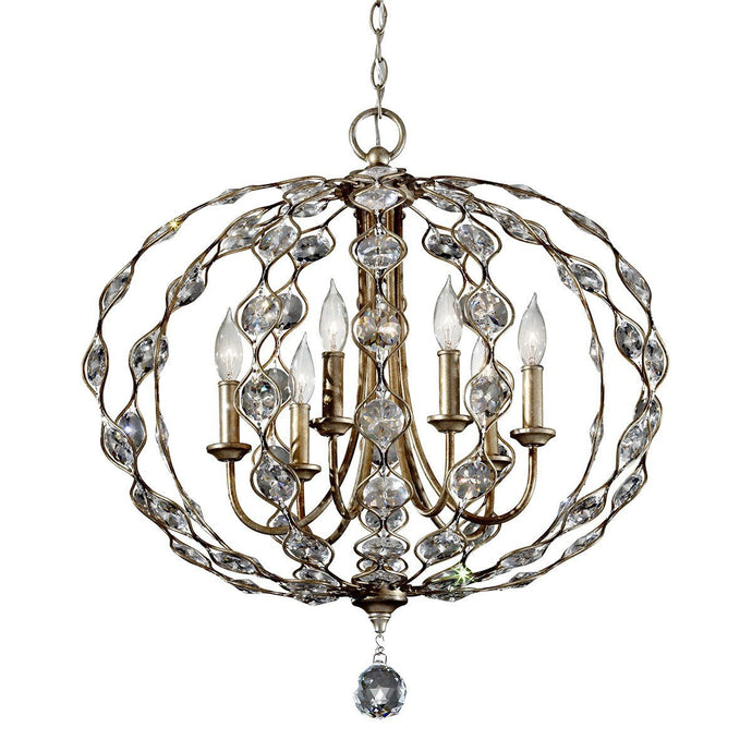 Feiss Leila 6 Light Chandelier - London Lighting - 1