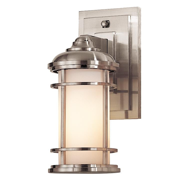 Brushed Steel Small Wall Lantern