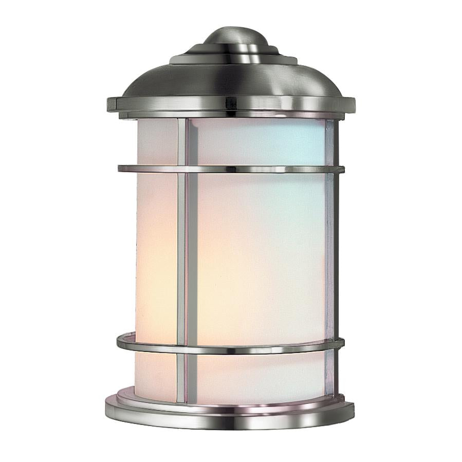 Brushed Steel Half Wall Lantern