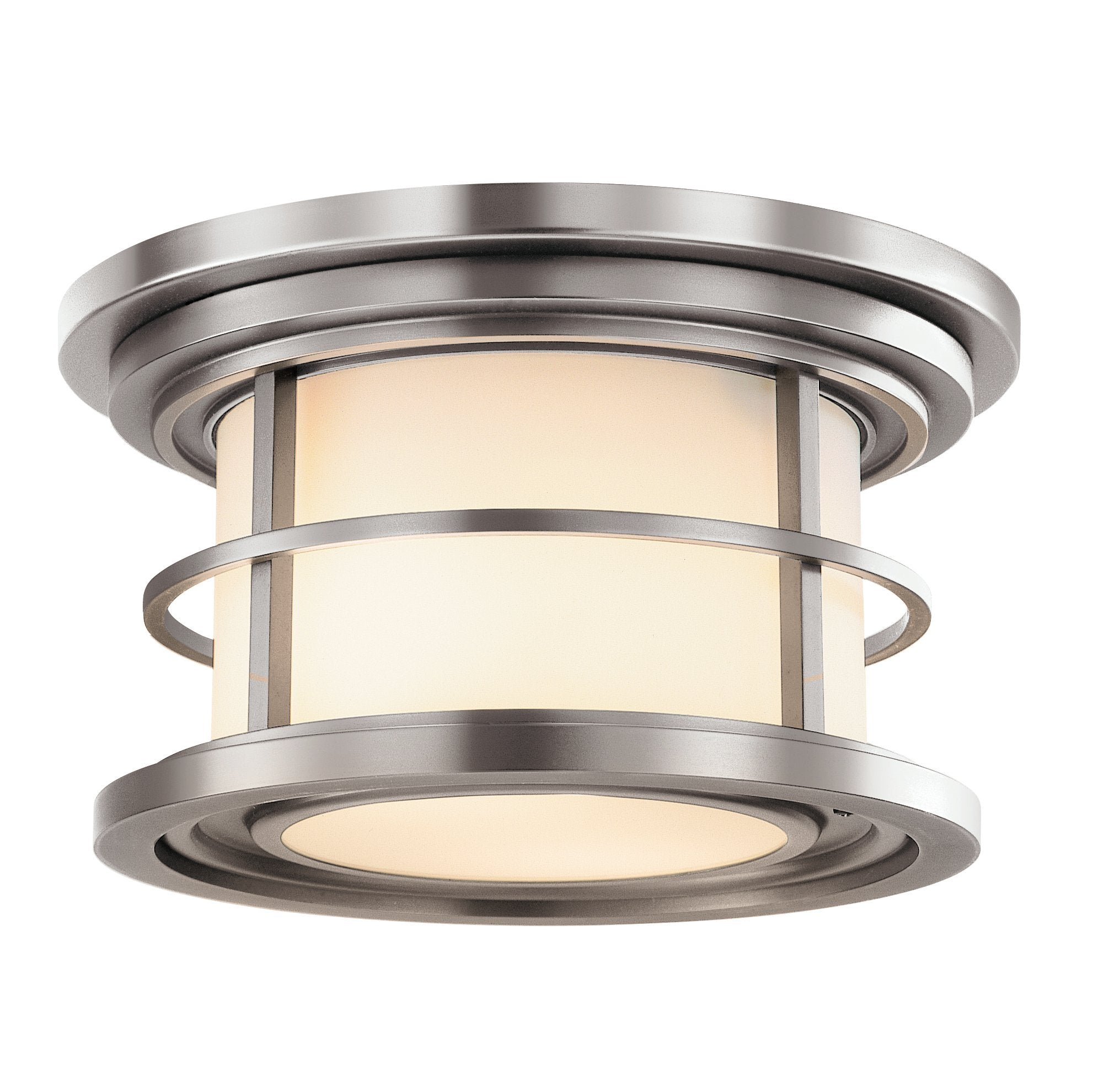 Brushed Steel Outdoor Flush Mount