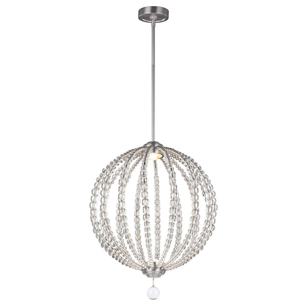 Medium Two Light Satin Nickel LED Pendant