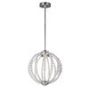 Small Satin Nickel LED Pendant