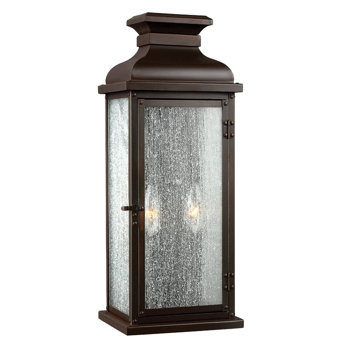Medium Two Light Dark Aged Copper Wall Lantern