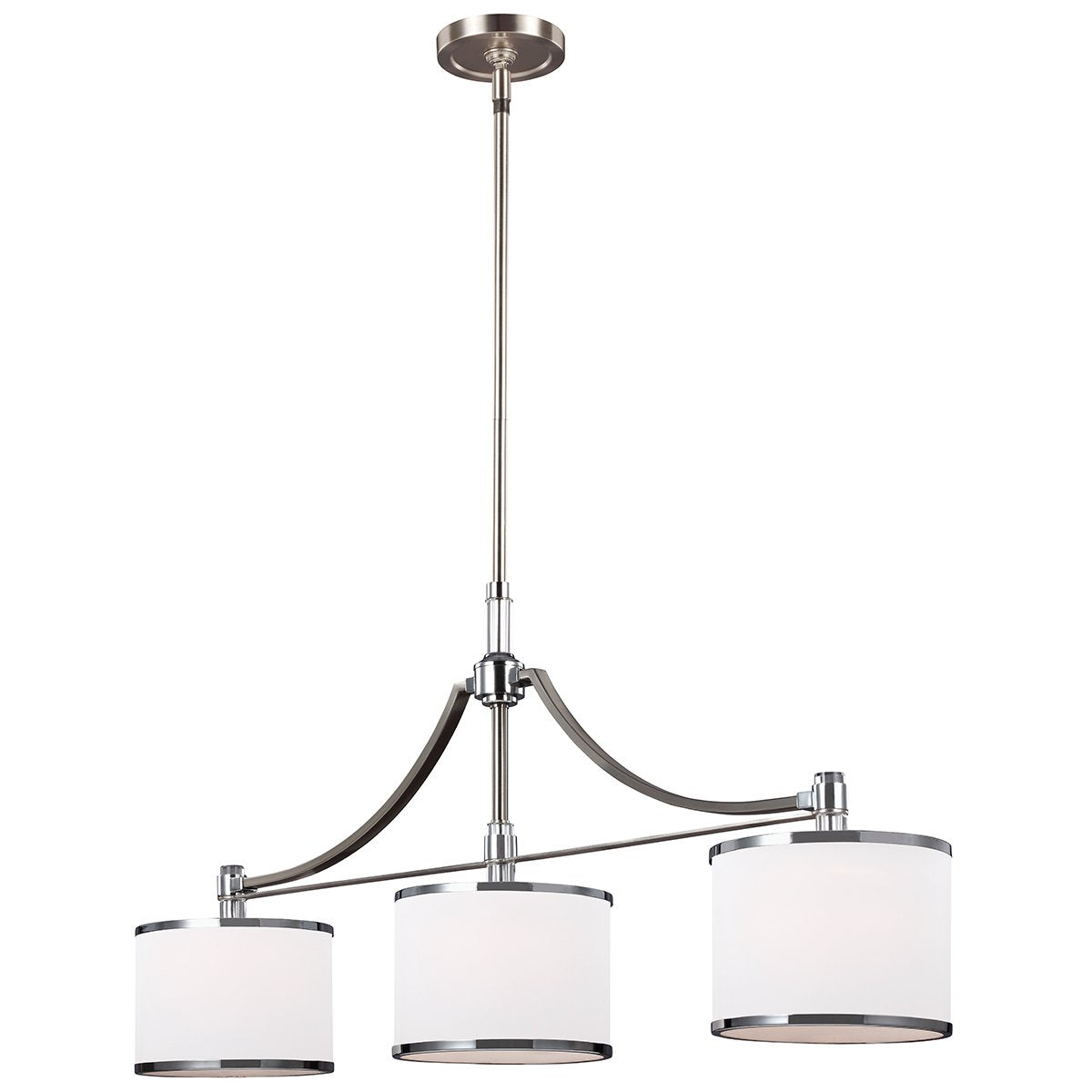 Satin Nickel Island Chandelier