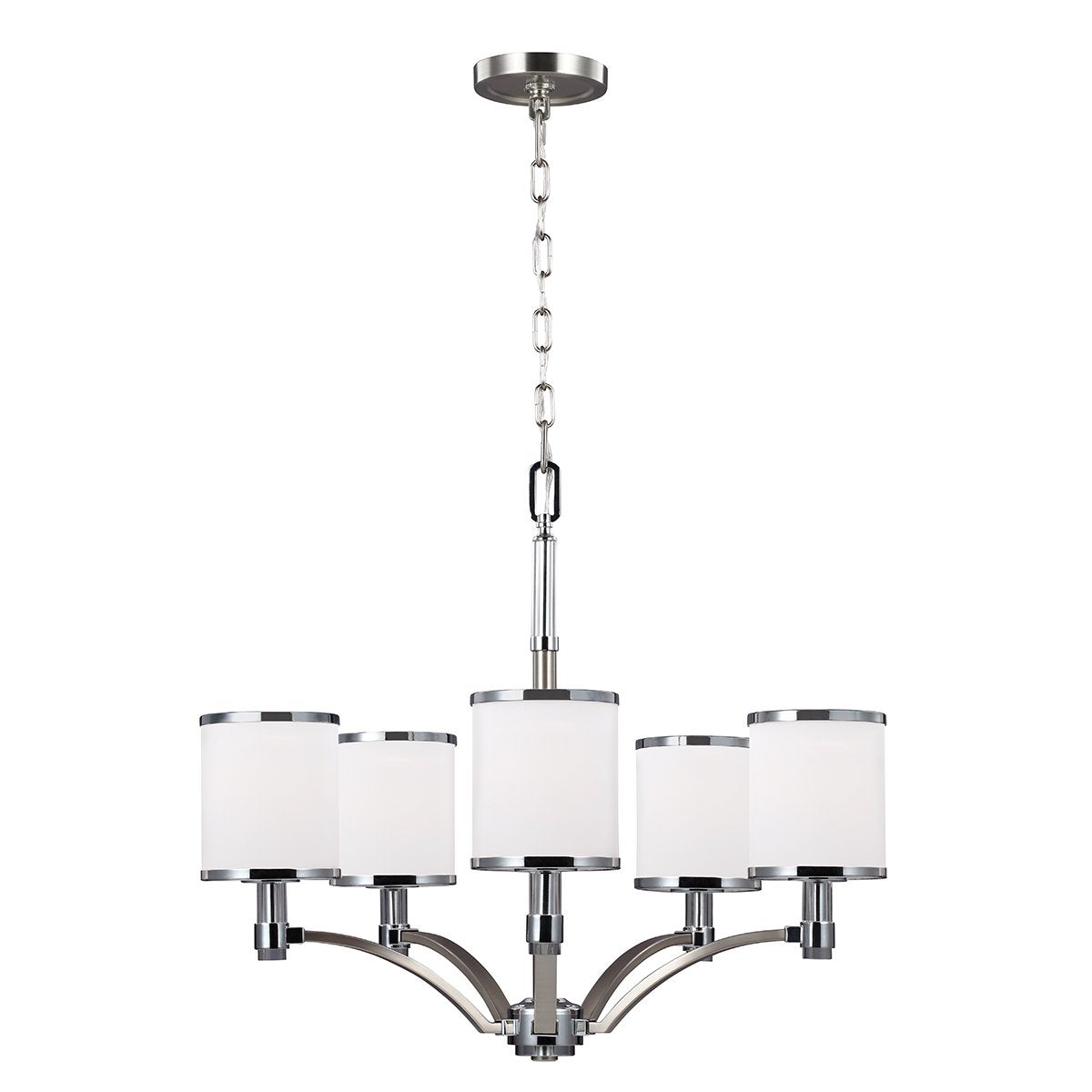 Small Satin Nickel/Chrome Chandelier