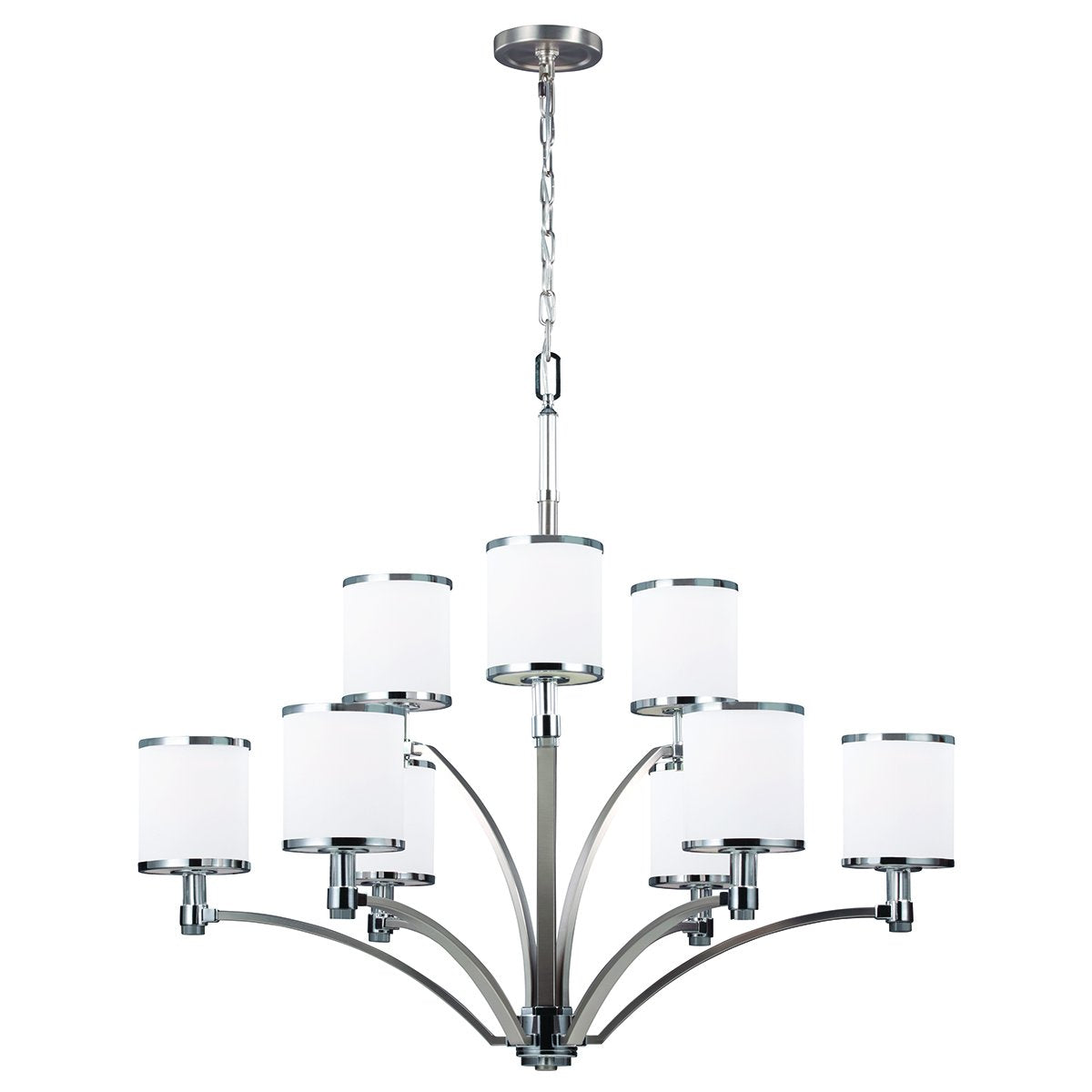 Satin Nickel/Chrome Chandelier