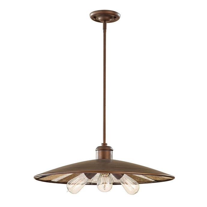 Feiss Urban Renewal 3 Light Large Pendant Light - London Lighting - 1