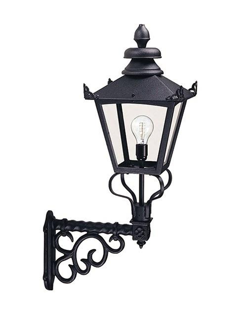 Grampian Wall Lantern Black - London Lighting - 1