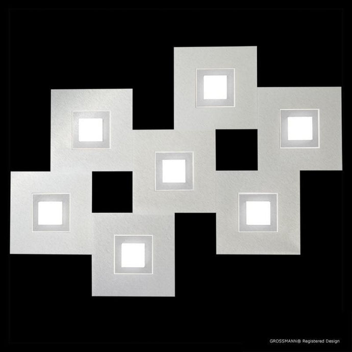 Grossmann KARREE Aluminium Seven Lamp Wall / Ceiling Light - Colour Frame Options