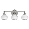 Ainsley Three Light Polished Chrome Bathroom Wall Light