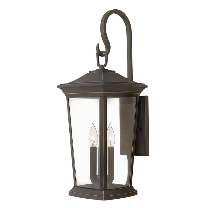 Bromley Three Light Oil Rubbed Bronze Large Wall Lantern Light