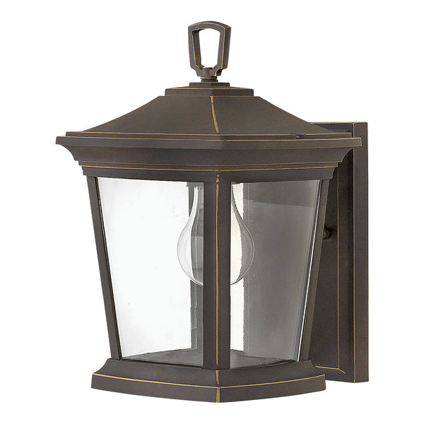 Bromley One Light Oil Rubbed Bronze Small Wall Lantern Light