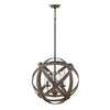 Three Light Vintage Iron Outdoor Chandelier