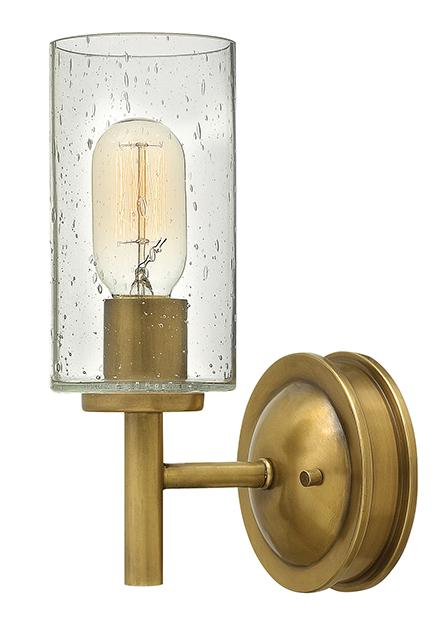 One Light Heritage Brass Wall Light