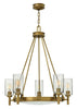 Five Light Heritage Brass Chandelier