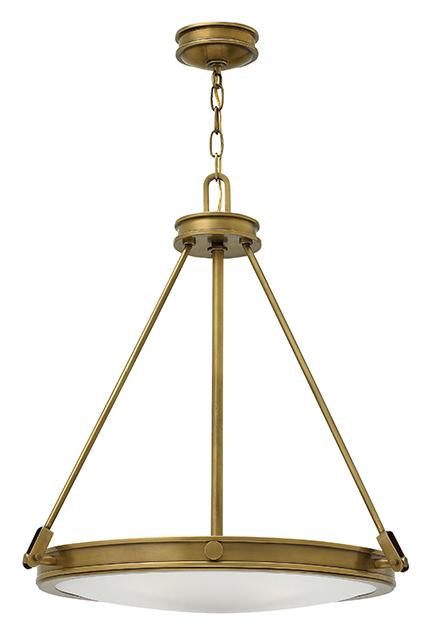 Four Light Heritage Brass Pendant Light