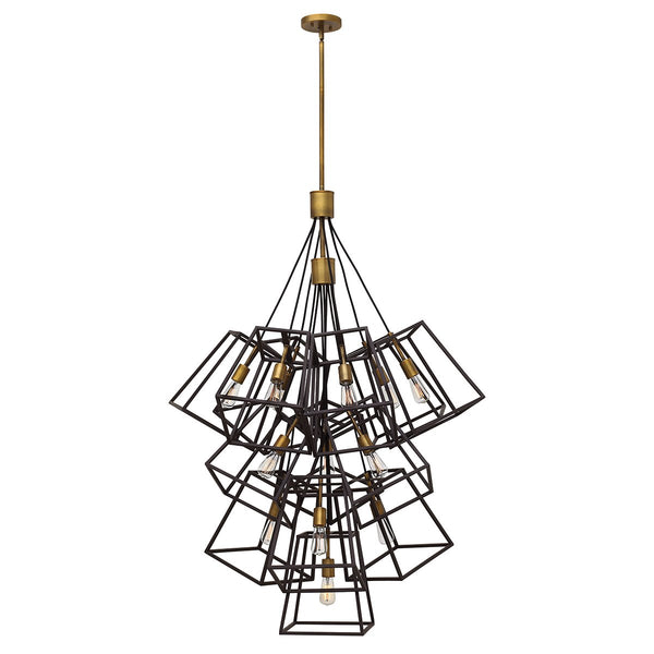 Thirteen Light Bronze Chandelier