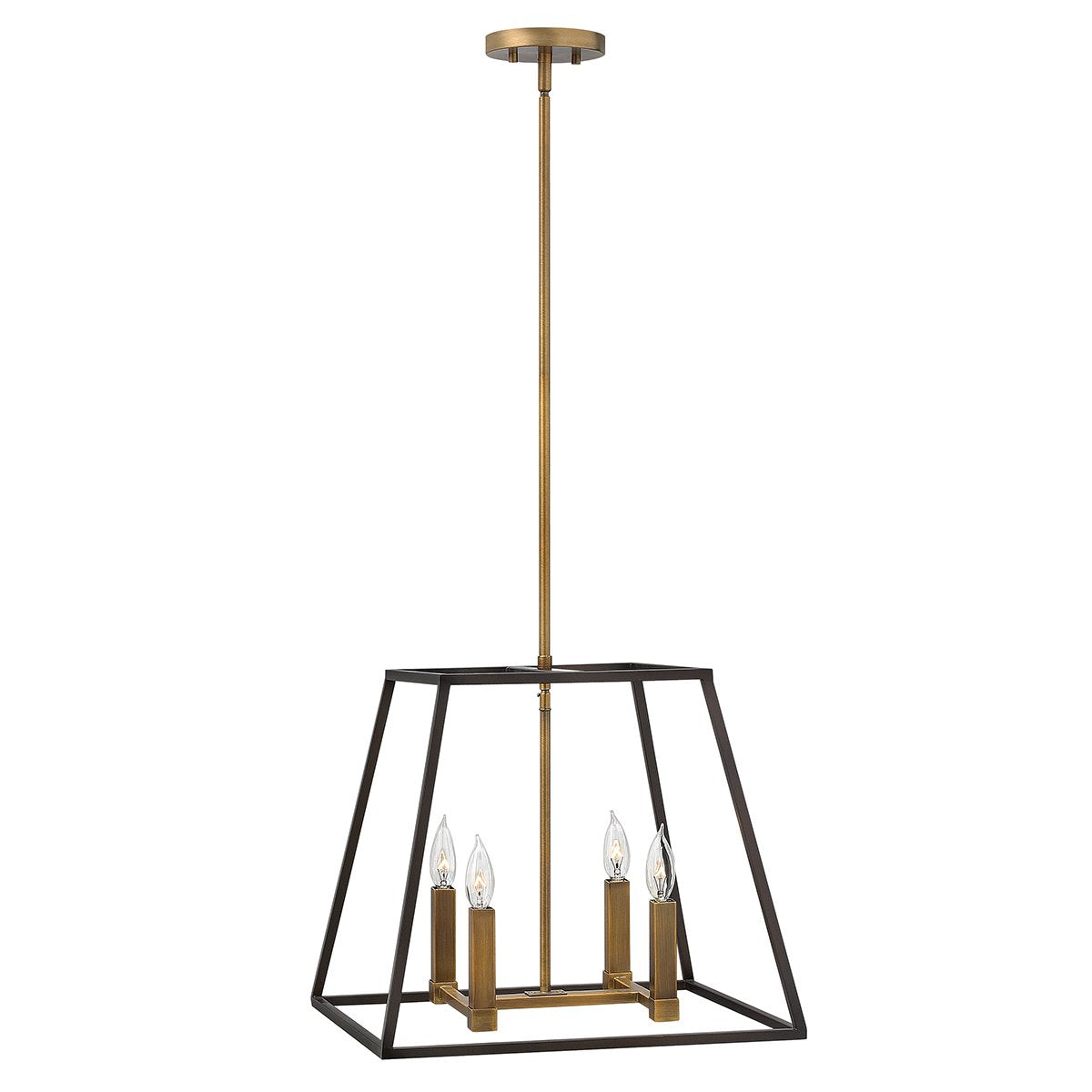 Four Light Bronze Chandelier