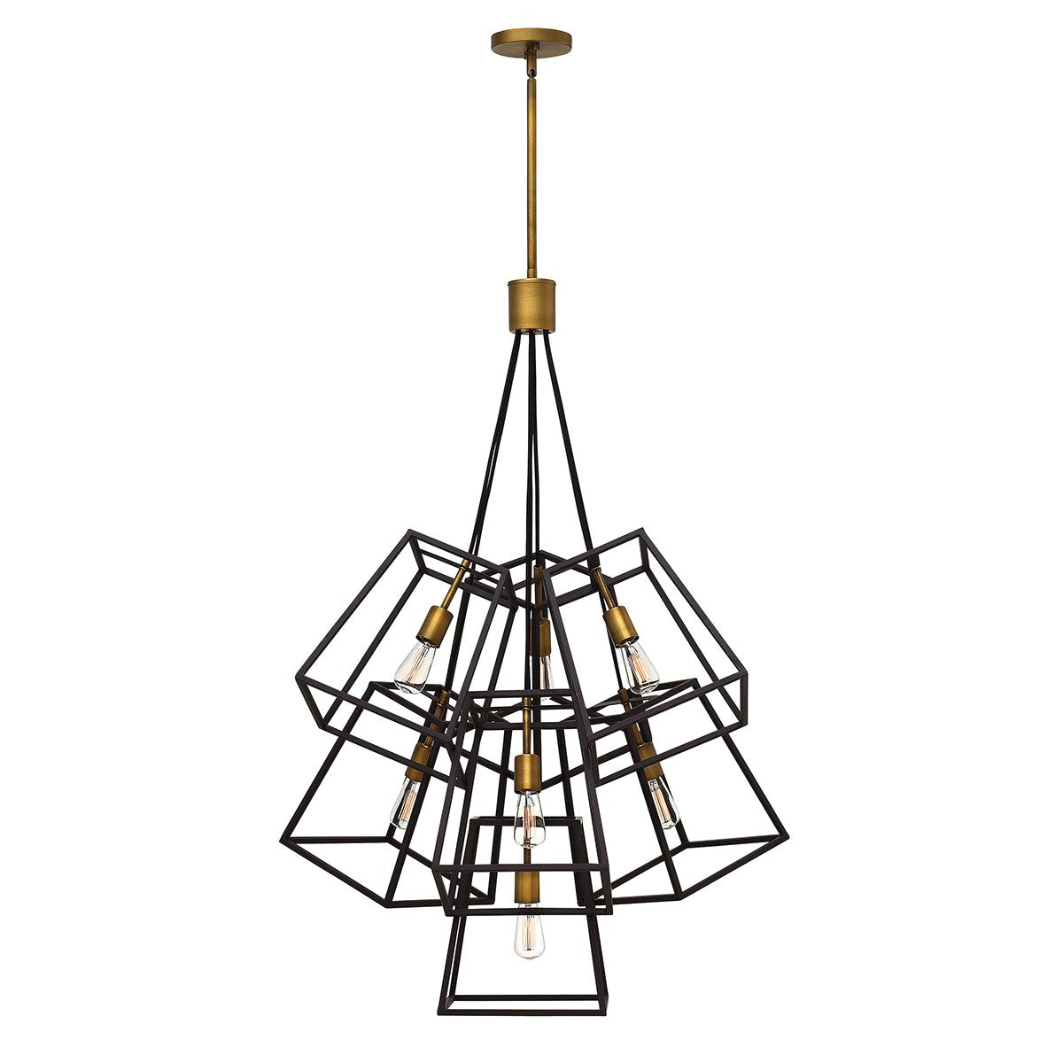 Seven Light Bronze Chandelier