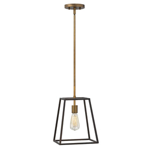 Single Bronze Pendant Light