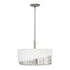 Three Light Polished Nickel Pendant Light